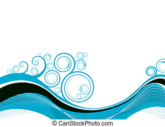 swirl wave - water inspired image that would make an ideal...