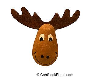 Moose - Swedish moose isolated on white