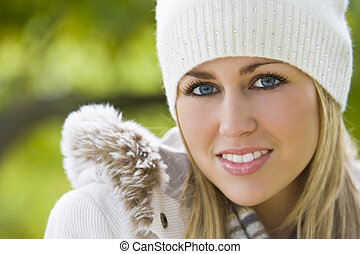Warm and Bright - A stunningly beautiful young blond woman...