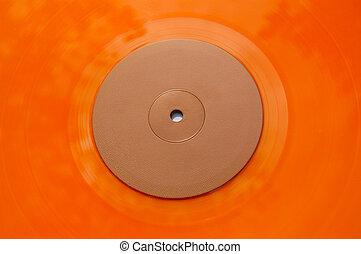 orange vinyl record texture