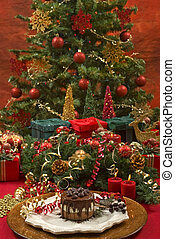 Christmas - Beautifully decorated Christmas setting with...