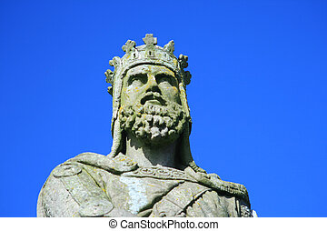 robert the bruce stirling - robert the bruce statue outside...
