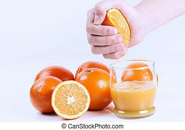 Fresh orange juice - Fresh hand squeezed orange juice....