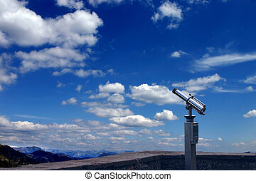 Spyglass in the sky - A spyglass is pointed towards the sky....