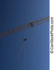 Constuction Crane - View of counterbalance construction...