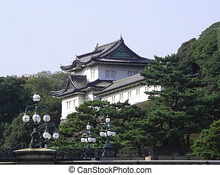 Imperial Palace in Tokyo - View of the Imperial Palace in...