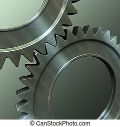 steel gears - The pair of the associated steel gears