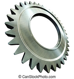 steel gear - 3d rendering of the steel gear