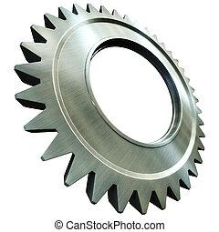steel gear - 3d rendering of the steel gear