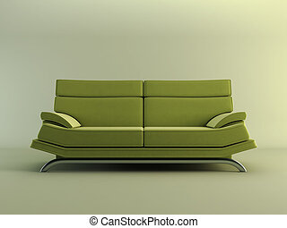 modern green couch