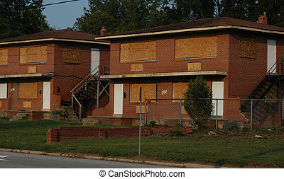 Old buildings - Two old apartment building in a southern...