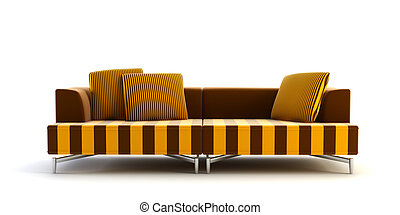 modern striped couch