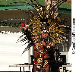 azteca, tribal, anciano, 3