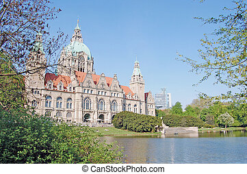 City hall in Hanover - View on a historic building of the...