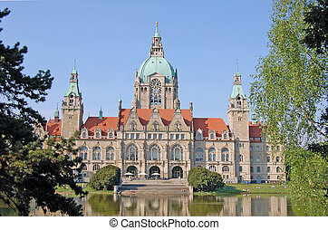 City hall in Hanover - View on the City hall in Hanover