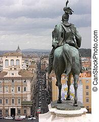 Monument rider Rome