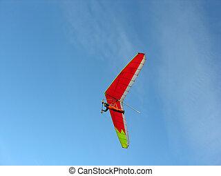 red hangglider