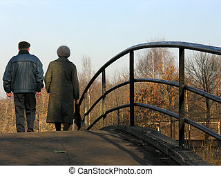 retirees on bridge