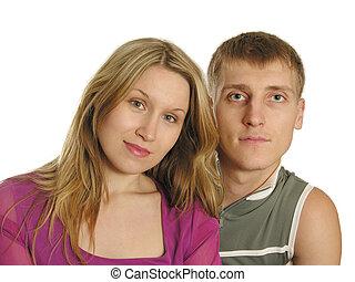 couple faces