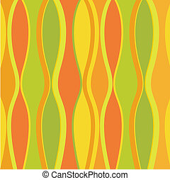 Retro waves in bright citrus colors