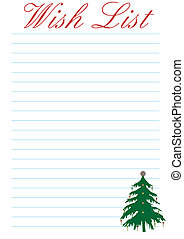 Wish List - Christmas - a wish list decorated with a...