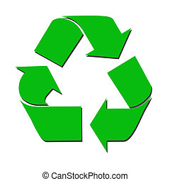 recycle sign with green color