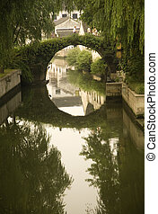 Moon Bridge China - Moon Bridge Shaoxing, Zhejiang, China,...