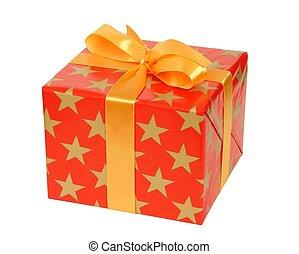 Gift Box - Christmas gift box isolated on white background