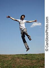 jump boy on meadoww