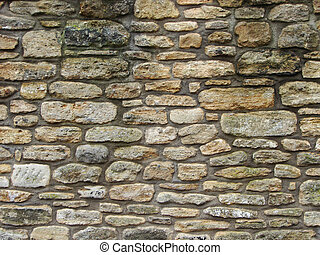 Stone wall - Example of stones and skill to build this wall...