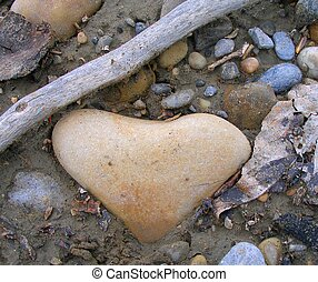 Heart Rock 6 - Heart shaped river rock