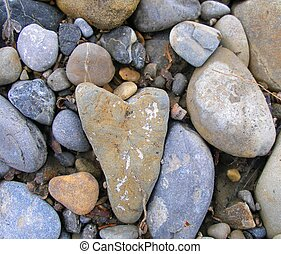 Heart Rock 7 - Heart shaped river rock