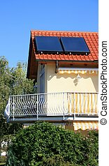 Solar Panel - this image shows a house with solar panel at...