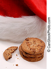 Santa\\\'s Cookies - Chocolate Chip Cookie Snack Left Out...