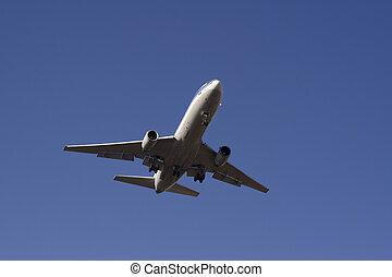 Landing passenger plane 1 - Landing passenger jet airplane
