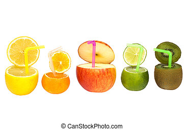 Colorful abstract fruit drink - Colorful abstract fruit...