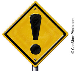 Caution Sign - Computer generated caution/warning sign. With...