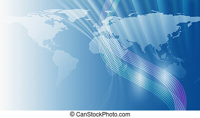 World Map Background - World map background, with dynamic...