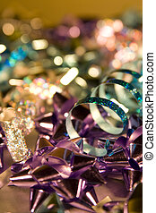 Shimmering Christmas Wrapping and Decorations, with carefull...