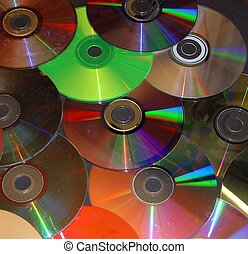 Compact Disks - A bunch of old scratched compact disks in...