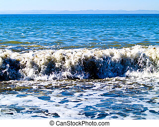 Waves at the beach in the Strait of Juan de Fuca in the...