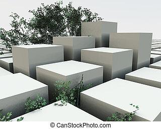 Cube Garden Background