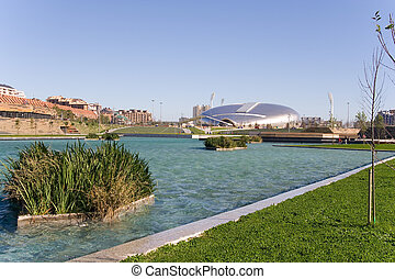 park in the city, Santander, Spain