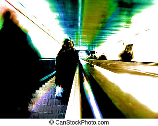 abstract tube - photomanipulation of a photo shooted on...