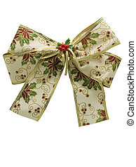christmas ribbon decor - photo of christmas ribbon...