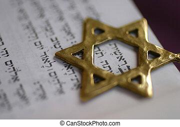 Golden Star of David - A Golden Star of David, a Jewish...