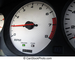Custom Gauge Cluster - A closeup of a custom sport scar...