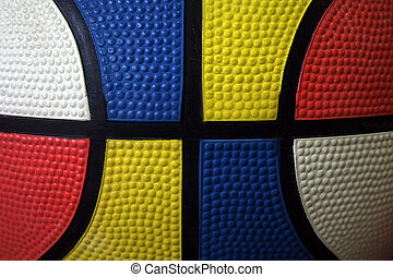 Colorful basketball closeup