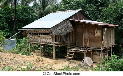 Country House - A typical country house in Malaysia, Borneo