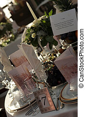 Place Setting at wedding - A place setting at a wedding...